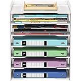 PUNCIA 7 Niveau Organisateur de Papier de Bureau pour Bureau Support de Fichier de Bureau Lettre Plateau et Support de Papier