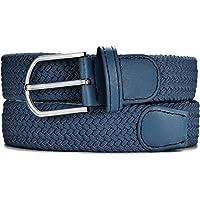 MASADA Cintura in tessuto - cintura elastica stretch per uomo e donna larga 3,2 cm lunga 90-120 cm