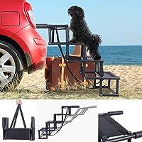 ElevenII Car Steps für Hunde, rutschfeste, klappbare Pet Steps für kleine und große Hunde, Metallrahmen-Pet-Rampe für…