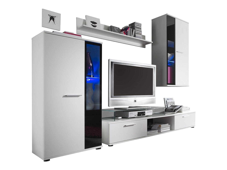Furnline Salsa TV Stand Wall Unit Living Room Furniture Set, White: Amazon.co.uk:  Kitchen U0026 Home Part 80