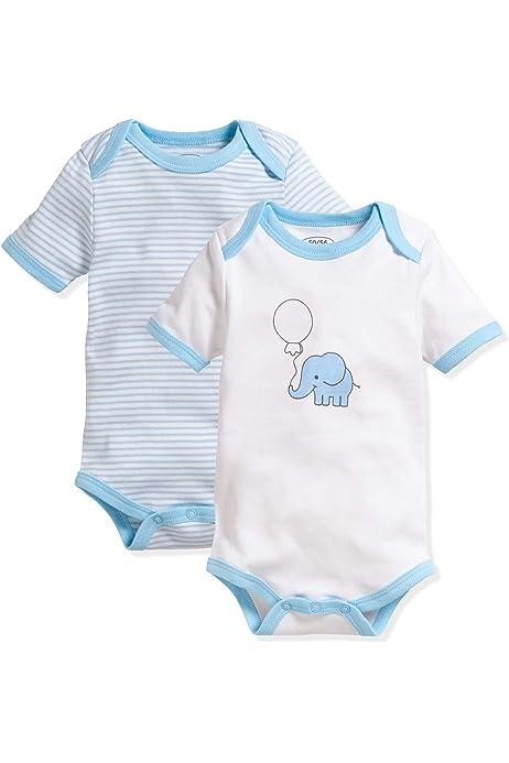 Schnizler Unisex Baby Body Elefant Kurzarm 2er Pack