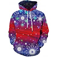 Zylione Men's Hoodie 3D Print Christmas Sweatshirt Oversize Unisex Long Sleeve Pullover Christmas Casual Xmas Party…