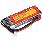 REES52 3S 11.1V 2200mAh 35C LiPo Battery Pack with T Plug for RC Evader BX Car RC Truck RC Truggy RC Airplane UAV Drone FPV