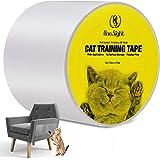 One Sight Cinta de Entrenamiento Anti Arañazos para Gatos, 10 CM x 30 M Cinta Disuasoria Transparente para Rascar Gatos, Prot