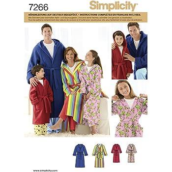 Simplicity Schnittmuster 7266 A Kinder,Herren & Damen Bademantel Gr ...