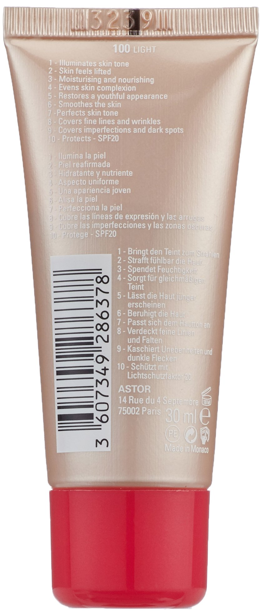 Astor Lift Me Up BB Cream Base de Maquillaje Tono 100-40 gr