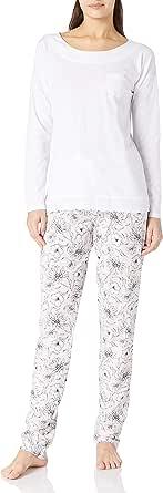 LOVABLE Slub Cotton Jersey+Modal Set di Pigiama Donna
