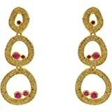 Suave Handcrafted Gold Alloy Dangle & Drop Earrings for Women
