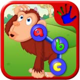 Prescolare ABC Zoo animale collegare il Dot puzzle - insegna lettere numeri e forme adatto a bambini piccoli e bambini