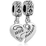 Aeneas مجوهرات للزوجة زوجين سحر الفضة مطلي القلب أفضل صديق لسوار سلسلة الثعبان