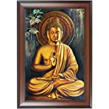 WENS Engineered Wood Religious Wall Painting, Multicolour, 37.4 cm x 52.7 cm x 1.2 cm
