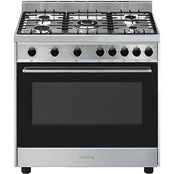 Smeg B90GMXI9 Piano cottura Gas A Nero, Acciaio inossidabile cucina ...