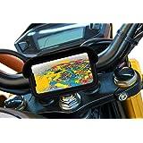 Supporto cellulare moto con caricatore usb 2.1A carica veloce supporto smartphone moto Custodia impermeabile Visiera antirifl