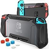 HEYSTOP Carcasa Compatible con Nintendo Switch, Funda Switch con Protectora TPU Grip Funda de Agarre la Consola de Pantalla C