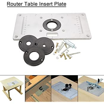 Trend rtiplate router table insert plate rtiplate by trend black essort router table plate aluminium alloy router table plate insert for diy woodworking benches 235mm x 120mm x 8mm greentooth Images