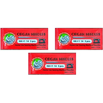 Rajesh Organ Needles (4 Packs , 12 Needles) , Ha X 14 No. Works With All Automatic Sewing Machines (Usha/Singer/Brother/Rajesh)