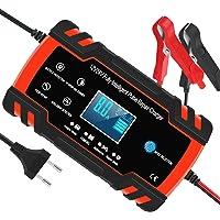 Chargeur de Batterie pour Voiture et Moto Intelligent 8A 12V/24V, Mainteneur de Chargeur Batterie Voiture, 3 Étapes de…