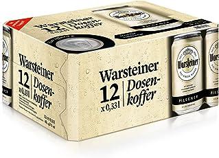 Warsteiner Premium Pilsener Dosenkoffer – 12 x 0,33 Liter Dosenbier – Internationales Bier nach deutschem Reinheitsgebot – Dosenkoffer auch im Spar-Abo erhältlich