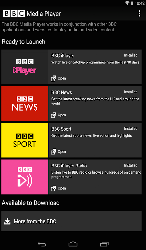 installer les commentaires de la tablette bbc iplayer