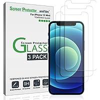 amFilm (3 Stück) Panzerglas Schutzfolie für iPhone 12 Mini (2020) - Hüllenfreundliche (Einfache Install) Glas…