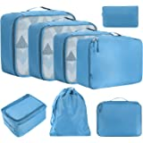 Amazon Brand - Eono Lot de 8 Sac Organiseurs de Bagage, Sacs Rangement de Valise Voyage, Organisateurs de Voyage Cube, Packin