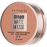 Maybelline New York - Dream Mat Mousse, Base de Maquillaje en Mousse, Tono 48 Beige Soleado