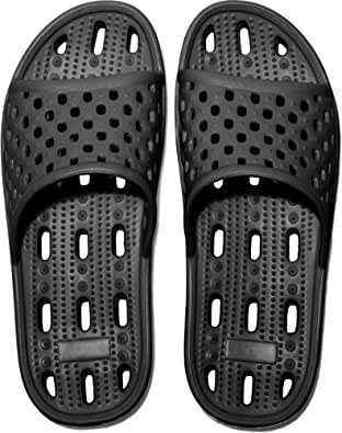 Womens Mens Anti-Slip Slippers Quick-Drying Bathroom Shower Slippers Massage Slippers Casual Comfortable Pool Beach Slides Summer Sandals