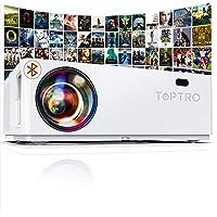 Vidéoprojecteur, TOPTRO Bluetooth 7100 LM Projecteur Full HD 1080P, Natif 1920x1080 Soutien 4K, Contraste 10000:1…