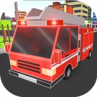 Pixel Fire Truck Simulator 3D