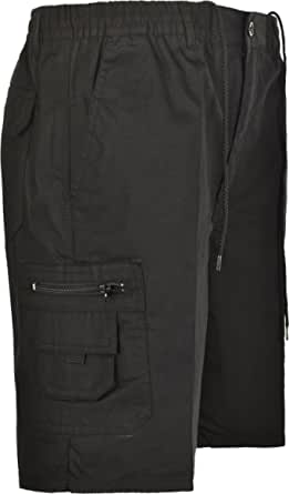 Mens Cargo Combat Shorts With Multi Pockets Elasticated Waist Small To 5XL