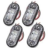 Proster 4 PZ Luce Laterale da Camion Indicatore Anteriore LED Lampada di Posizione per Camion Furgone Rimorchi Auto 12V…