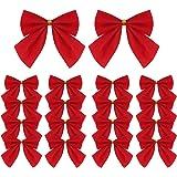 Lot de 120 mini nœuds en ruban rouge pour sapin de Noël, couronnes de Noël, décoration de cadeaux, 5,5 cm