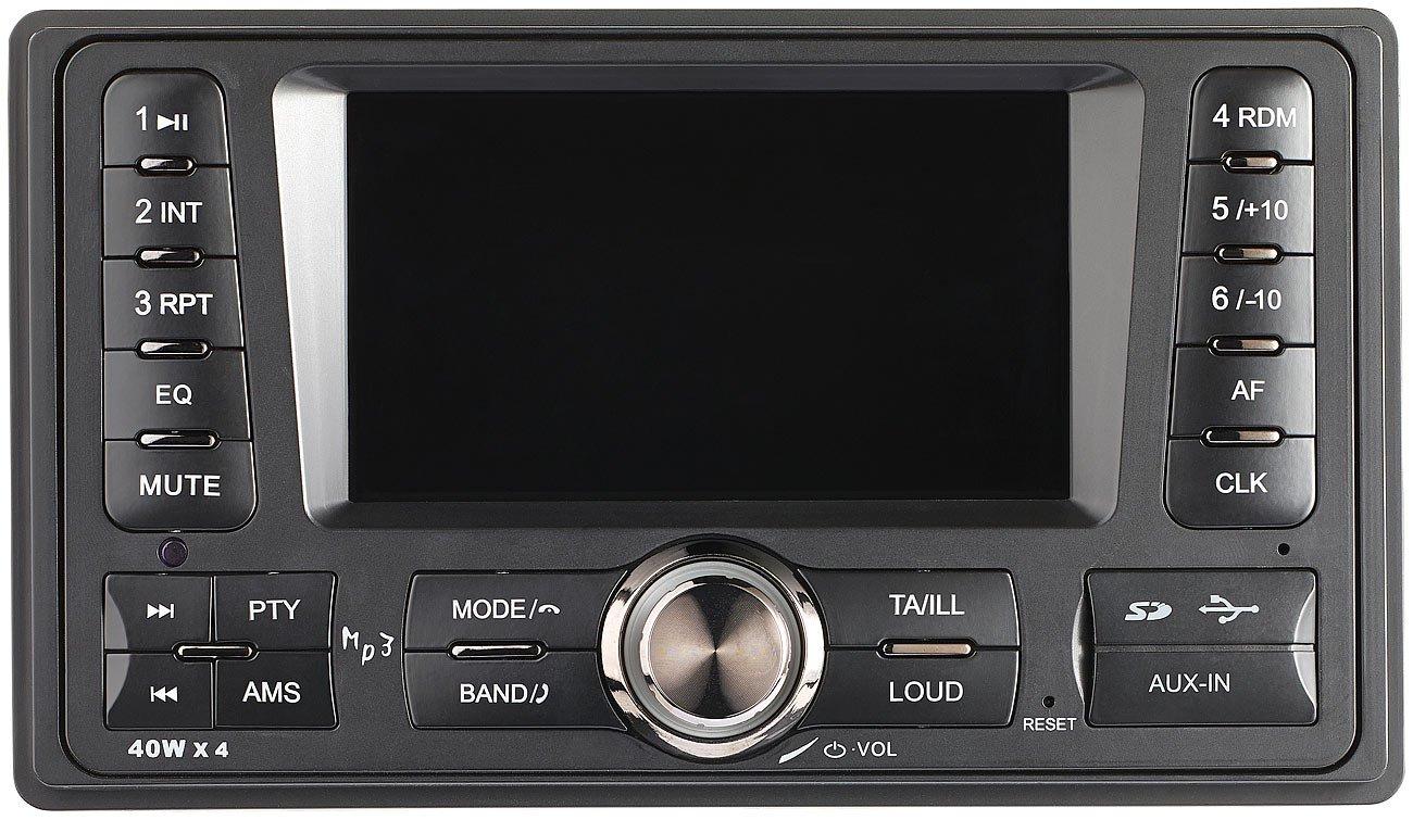 Creasono-2DIN-Autoradio-2-DIN-MP3-Autoradio-CAS-4380bt-mit-RDS-Bluetooth-USB-SD-4X-45-W-Autoradio-Doppel-DIN