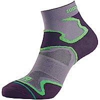 1000 Mile Black/Grey Breathable Fusion Anklet Socks - Blister Prevention, Sports Socks
