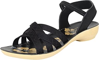 Earton Women Black-983 Fashion Sandals