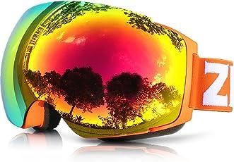 ZIONOR Lagopus X4 Snowboard Skibrille Anti-Fog Magnet Lens-Swapping Tech 100% UV400 Schutz Air-Flow Panoramablick verstellbaren Riemen für Skifahren Snowboard Unisex