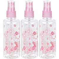 WORISON 100ml Empty Cute Reusable Refillable Fine Mist Sprayer Spray Bottle Atomizer with Ultra-Fine Mist Pump for Beauty, Outdoors, Travel Purposes - 3 Pc (Random Colour)