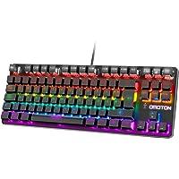 OMOTON Gaming Tastatur, Mechanische Gaming Tastatur RGB, 8 beleuchtungsmodi, Makro-Tasten, geeignet für PC, PS4, PS5…
