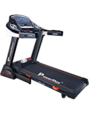 Powermax Fitness TDA-230 (2.0 HP), Semi-Auto Lubrication, Motorized Treadmill with 15 level Auto Inclination for Intense Workout Sessions