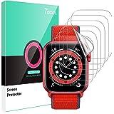TOCOL 6 Piezas Protector de Pantalla para Apple Watch Series 6 5 4 40mm y Apple Watch Series 3 2 1 38mm HD Clear Soft TPU Fil