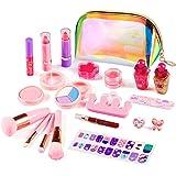 ARANEE 21PCS Juego de Maquillaje para niños para niñas, Kit de Juguete de Maquillaje Lavable con Bolsa de cosméticos con Purp