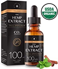Usda Organic Hemp Extract For Pain Anxiety Relief (100Mg), Cinnamint Flavor, F