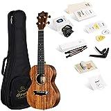 Enya ukulele Concerto OMS-04 23 pollici con corpo in KOA laminato, borsa imbottita, accordatore, tracolla, capotasto, corde d