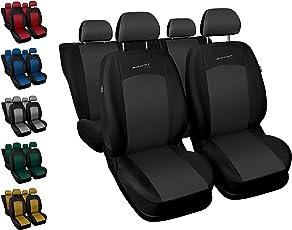 Sitzbezüge Auto Universal Set Autositzbezüge Schonbezüge Schwarz-Grau Vordersitze und Rücksitze mit Airbag - Sport Line