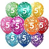 Bluelves Kunder färgglada ballonger 5 år metallic 30 st dekoration för 5. Födelsedag pojke flicka, årsdag bröllop fest barn f