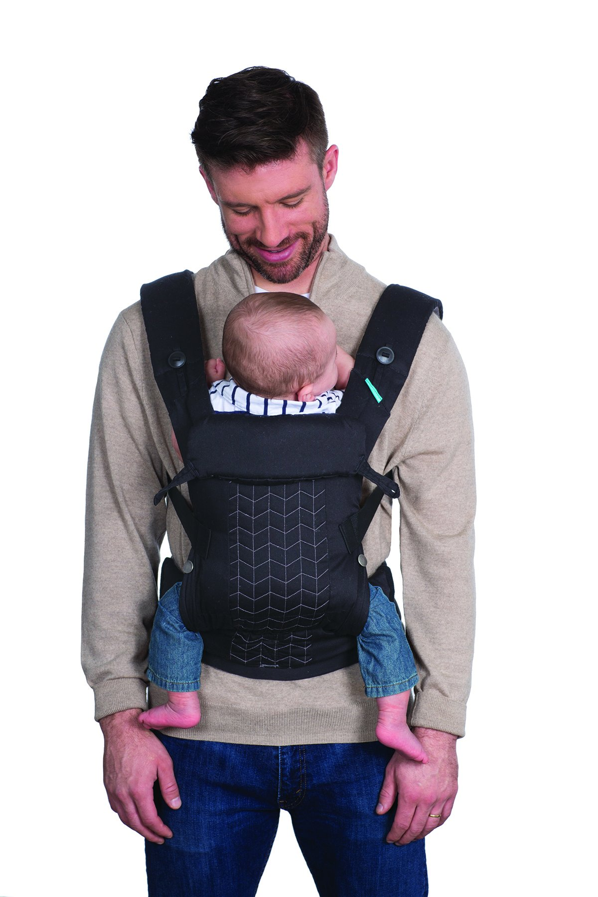 Infantino Upscale Carrier, Black, One Size Infantino Fully safety tested 4 way carrier Facing in newborn & m position 4