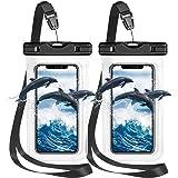 Pochette Etanche Smartphone Housse Étanche Smartphone[ Lot de 2],Certifiée par IPX8 Pochette Téléphone Étanche pour…