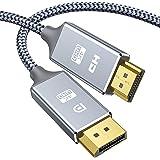 Snowkids Cavo DisplayPort a HDMI 1.4-1,8m 4K Ultra HD maschio Adattatore Display Port a HDMI-nylon intrecciato non bidirezion