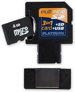 Platinum Multi Micro Sdhc Card 3 In 1 4 Gb Inklusive Computer Zubehör