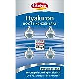 Schaebens Hyaluron Boost Konzentrat 1,6 ml 4x 0,4 ml für alle Hauttypen, Sofort-Effekt, Feuchtigkeit, Anti-Age & Vitalität, mit Duo-Hyaluraonsäure & Panthenol für 4 Anwendungen